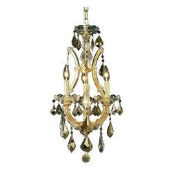 Elegant Lighting - Elegant Lighting 2800D12G-GT/RC Maria Theresa Collection Hanging Fixture - Elegant Lighting 2800D12G-GT/RC Maria Theresa Collection Hanging Fixture