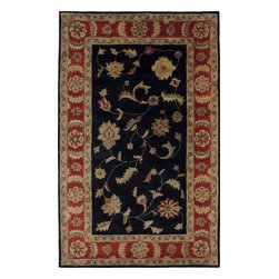 Dynamic Rugs - Dynamic Crsma 1401-090 Black/Red 2'4'' x 8' Area Rugs - Dynamic Crsma 1401-090 Black/Red 2'4'' x 8' Area Rugs