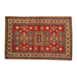 1800-Get-A-Rug - Tribal and Geometric Kazak Oriental Rug Red Hand Knotted 100% Wool Sh16668 - Our Tribal & Geometric hand knotted rug collection, consists of classic rugs woven with geometric patterns based on traditional tribal motifs. You will find Kazak rugs and flat-woven Kilims with centuries-old classic Turkish, Persian, Caucasian and Armenian patterns. The collection also includes the antique, finely-woven Serapi Heriz, the Mamluk Afghan, and the traditional village Persian rug.