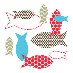 People Towels - PeopleTowels 2 Day Supply, Fish Bowl - There are plenty of fish in the sea. Keep them healthier by using these organic cotton towels printed with ecofriendly dyes rather than paper towels, which have designs made with toxic ink that can contaminate the water. Sold in a set of two, these fabulous fish-themed towels are extremely absorbent, fast-drying and machine-washable, making them ideal for use inside and outside of your home.