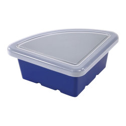 Ecr4kids - Ecr4Kids Preschool Organizer Replacement Tray Quarter Circle With Lid Blue 20 Pk ...