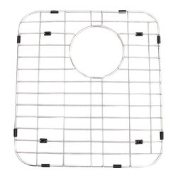 ALFI brand - ALFI GR512L Stainless Steel Protective Grid for AB512 Kitchen Sink - Protect your investment with this solid stainless steel grid that sits on the bottom of your fireclay sink. Protects the sink from nicks or cracks caused by heavy pots or pans dropped in, reduces the need for cleaning marks or stains of the bottom of the sink.