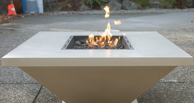 Outdoor Tables by Concrete Lifestyles