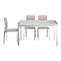 Whiteline Imports - Whiteline Imports Tavolo Desk/Dining Table in High Gloss White - Desk/Dining table in high gloss white belongs to Tavolo collection by Whiteline