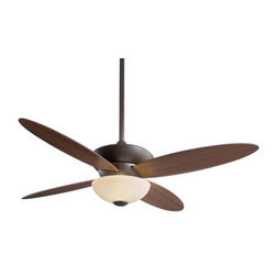 Minka Aire - Minka Aire Zen Ceiling Fan in Oil Rubbed Bronze - Minka Aire Zen Model F514-ORB in Oil Rubbed Bronze with Medium Maple Finished Blades.