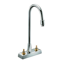 KOHLER - KOHLER K-7305-K-CP Triton Centerset Lavatory Faucet - KOHLER K-7305-K-CP Triton Centerset Lavatory Faucet with Aerator, Requires Handles, Less Drain and Lift Rod in Chrome