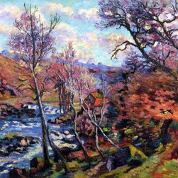 "Armand Guillaumin The Bouchardon Mill at Crozant   Print - 16"" x 20"" Armand Guillaumin The Bouchardon Mill at Crozant premium archival print reproduced to meet museum quality standards. Our museum quality archival prints are produced using high-precision print technology for a more accurate reproduction printed on high quality, heavyweight matte presentation paper with fade-resistant, archival inks. Our progressive business model allows us to offer works of art to you at the best wholesale pricing, significantly less than art gallery prices, affordable to all. This line of artwork is produced with extra white border space (if you choose to have it framed, for your framer to work with to frame properly or utilize a larger mat and/or frame).  We present a comprehensive collection of exceptional art reproductions byArmand Guillaumin."