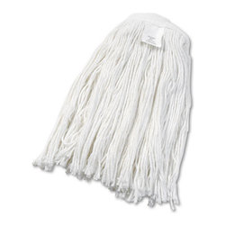 UNISAN - UNISAN Cut-End Wet Mop Head, Rayon, No. 24, White - Clean up quicker with a high-quality, ultra-absorbent mop head. Cut-end design minimizes snags. Heavy-duty headband ensures secure attachment. For use with clamp-style mop handles (sold separately).