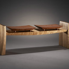 Eclectic Indoor Benches by Brian A. Hubel, Furniture Maker