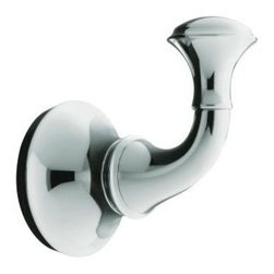 "KOHLER - KOHLER K-11275-CP Forte Traditional Robe Hook in Polished Chrome - KOHLER K-11275-CP Forte Traditional Robe Hook in Polished ChromeForte(R) Traditional accessories have a timeless aesthetic well suited for baths with classic decor. This Forte Traditional robe hook, offered in a compelling array of scratch- and corrosion-resistant Vibrant(R) PVD color finishes, complements the elegance of Forte bath and powder room faucets.KOHLER K-11275-CP Forte Traditional Robe Hook in Polished Chrome, Features:• 2-3/8""W x 3-5/8""D x 2-1/2""H"