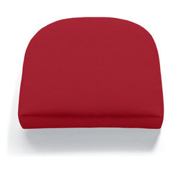 "Grandin Road - Contoured Seat Cushion - There is a wide variety of styles and colors to choose from, so it's easy to find the perfect fit for your outdoor setting. Colors will stay vibrant all summer long. Stuffed with quick drying, 100% polyester fill. Printed fabrics are spun polyester; solid and stripe fabrics are solution-dyed acrylic. All cushions are 2-1/2"" thick. Our All-weather Replacement Cushions and Pillows are crafted in America and the easiest, most affordable way to revive and extend the life of your outdoor furniture. The real beauty behind our cushions and pillows is the highly durable, all-weather fabric that repels water and resists chlorine, soil, and stains.  .  . . . ."