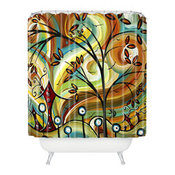 DENY Designs - madart inc Fall Colors Shower Curtain - Who says bathrooms can't be fun? To get the most bang for your buck, start with an artistic, inventive shower curtain. We've got endless options that will really make your bathroom pop. Heck, your guests may start spending a little extra time in there because of it!