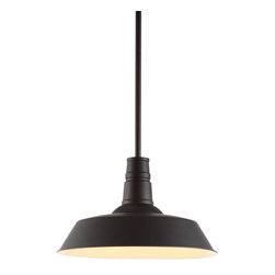 Zuo Modern - Zuo Modern Tin Ceiling Lamp in Rust - Ceiling Lamp in Rust belongs to Tin Collection by Zuo Modern A reproduction of an enamel pendant that's been a fixture ��_��_��_��_�� literally ��_��_��_��_�� in barns across the country for the last century, this design classic deserves to be brought indoors. The Tin ceiling lamp comes with one 100w bulb and is UL approved. Lamp (1)