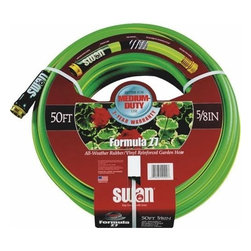 "Swan SNZ758075 Formula Z7 Medium Duty 5/8"" x 75' Garden Hose - 5-ply design for strength. Offers dual reinforcing, medium flexibility, and high kink resistance."