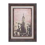 Benzara - Wood Framed art with a Rustic Gold Rim and Vintage Look - Lend detail to your decor with this wood framed art which sports a stunning appearance. Depicting the skyline of New York with the Empire State building at the centre, this framed art adds vintage attributes to your decor. Adding traditional and vintage mien to the wall, this famed art makes your color scheme look exquisite and lavish. Any monochromatic wall can be ornamented with this framed artwork. Brandishing a silvery grey matte, this framed art has a dark wooden frame. This framed artwork creates a contrast of colors with its sepia graphic. With a rustic gold rim, this wooden art work adds elegance to the wall. This wooden framed art work also acts as a wonderful gifting item. Made out of high quality wood, this framed artwork ensures long lasting performance and shelf life.