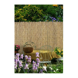 Lewis Hyman - 8-Feet Section of Banded Fence - Authentic Ba - 96 in. W x 48 in. H. Made from Bamboo. Attractive and durable. Banded with galvanized steel wire. Attaches with ties or staples. Easy to install. Packaged in an easy to carry bag. Minimal assembly required