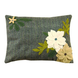 Homespice Decor - Homespice Decor Daffodil Throw Pillow Multicolor - 211521 - Shop for Pillows from Hayneedle.com! The Homespice Decor Daffodil Throw Pillow brings together a smart herringbone with the liveliness of floral appliques. Tan greens and grey help this piece to find a home in a seating area near you.About Homespice DecorProducing quality homemade products since 1998 Homespice Decor has become an industry leader in braided rugs (outdoor indoor wool cotton) and has expanded its line to include penny rugs rag rugs and its newest - Supernova rugs - which feature a swirling star braid design. Formerly known as J Quilts Company Homespice Decor shifted its focus from quilts to rugs pouring itself into the intricate details of braided rug craftsmanship. Homespice Decor is committed to providing affordable braided rugs of the highest quality in an abundance of sizes and styles.