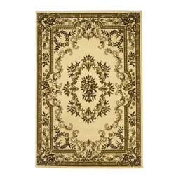 Corinthian 5311 Ivory Aubusson Rug - Luxurious and durable, this traditional Corinthian collection complements any transitional or classic interior with a touch of elegance from the East.