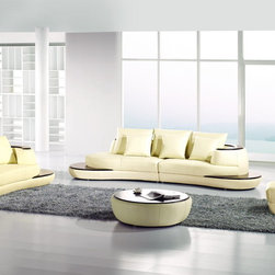 Sofa Set - Enhance your home decor with this contemporary Modern Ivory Sofa Set. This will transform any living room into a modern day work of art. Imagine an eye-catching comfortable look that will compliment and gives more attraction to your home.
