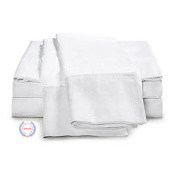 """ExceptionalSheets - 400 Thread Count - Egyptian Cotton Sheet Set by ExceptionalSheets - Our 100% Egyptian Cotton 400 Thread Count Sheet Sets are the perfect product for anyone looking for ultra-soft sheets that still maintain the durability and quality of high thread count luxury linens. These sheets will literally become softer and softer with every wash, so there is no limit to the amount of comfort that they will provide. They're available in multiple size ranges and colors making up almost 200 options! Whether the sheets are a gift for a friend or you are buying for yourself, you know you are getting top-quality luxury with Exceptional Sheets.  Egyptian Cotton: Why is Egyptian cotton so much better for your sheets? Quite simply, Egyptian cotton produces longer fibers (up to twice as long as a standard cotton fiber). The longer fibers or staples are easily spun into finer count yarns, and turned into the softest sheets you will ever sleep on. It's that simple! Single Ply: """"Ply"""" refers to the number of yarns wrapped together in a single thread. The process of plying creates thicker threads, which will impact a sheet's feel and durability. Finer threads allow for higher thread counts and a softer sheet with an elegant drape. About the Company: Exceptional Sheets is a US veteran owned and operated family business that offers a wide-range of luxury bed and bath linens. Their lineup features Egyptian cotton bed sheets, duvet covers and pillow cases as well as other products like mattress toppers, goose down comforters, 5-star Egyptian cotton bath robes and towel sets. Exceptional Sheets mission is to provide customers with the highest quality Egyptian cotton sheet sets and bed linens in addition to top-notch customer service. We guarantee 100% product satisfaction and accept """"no questions asked"""" returns for 100% refund or replacement."""