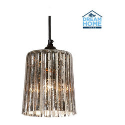 Ethan Allen - Ribbed Mercury Glass Pendant - The mercury's rising - in popularity, that is! And what's not to love? A reflective, mercury glass finish adds the right amount of sparkle to any room. Hang in pairs for even more drama.