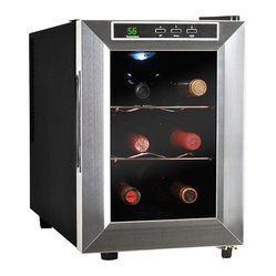 Vinotemp - Vinotemp 6-Bottle Thermoelectric Wine Cooler - Talk about the big chill. Perfect for your next party, this tabletop device brings six bottles to optimal temperature in no time while sparing your wine from unnecessary vibration. Cheers!