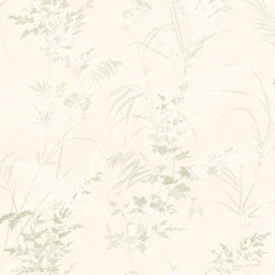Brewster Home Fashions - Tory Cream Tropical Leaves Wallpaper Bolt - A wallcovering with dazzling raised ink effects works to transform your room into an elaborate jungle scene of lush tropical leaves atop a rustic cream canvas.
