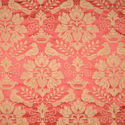 Scalamandre - Scalamandre Love Bird Silk Fabric - Damask