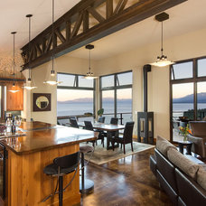 Contemporary Family Room by Tahoe Real Estate Photography