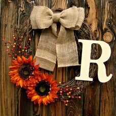 Rustic Wreaths And Garlands by Etsy