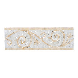 Stone & Co - Crema Marfil - Carrara Marble Art Border Polished 4x12 - Finish: Polished