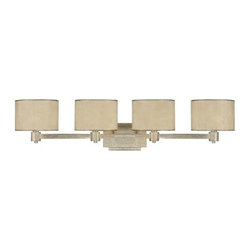 """Capital Lighting - Capital Lighting 1009-410 4 Light 36.25"""" Wide Bathroom Vanity Fixture from the L - Capital Lighting 1009-410 Luna Collection 4 Light 36.25"""" Wide Bathroom Vanity FixtureClassic styling accented by the Moonlit Mica shades, this four light vanity fixture is ideal for the traditionalist.Features:"""