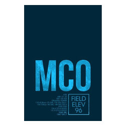 08 Left - 008 Left MCO (ATC) - Orlando Metal Print - As good as it gets. Ready to hang. Absolutely stunning and tough as rocks.