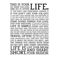 "Holstee - Holstee - Poster White Manifesto, 12"" X 16"" - - Display these words of inspiration as a daily reminder to live your dream."