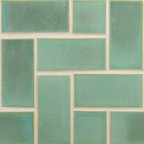 "Glass Tile Oasis - Patina Green 3"" x 6"" Green Tapestry Handmade Tile Glossy Ceramic - Tile Size:  3"" x 6""        Tile thickness:  1/4""        Handcrafted Ceramic Tile-8 pieces per Sq. Ft.       Sold by the square foot        -  Shade and size variations are inherent characteristics in all handcrafted ceramic tile. Orders ship within 2-3 weeks."