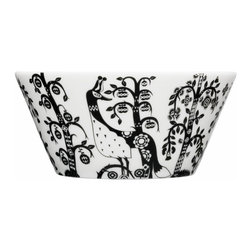 Iittala - Taika Pasta Bowl, Black - Everybody's favorite dish just got a touch more special. The pattern on this porcelain pasta bowl has a magical fairy-tale quality sure to enchant friends and family gathered at your table.