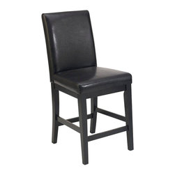 "Home Styles - Home Styles Nantucket Bar Stool in Distressed Black - Home Styles - Bar Stools - 503389 - Nantucket Bar Stool is constructed of hardwood solids and engineered woods in a Sanded and Distressed Black Finish for an aged worn look. Features include black vinyl seat and Back and metal foot rest to protect the front rail. Seat height 24"". Size: 18w 21d 40h."
