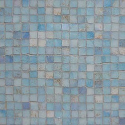 Contemporary Italian Mosaic Tiles - Gorgeous luminosity and texture in this mosaic, perfect for a bathroom shower or even in a kitchen on a backsplash.