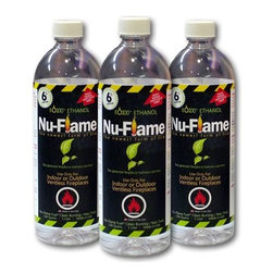 Nu-Flame - Nu-Flame Bio-Ethanol Fuel 1 Liter (Case of 3) - Due to our commitment to the safety of our customers we have upgraded our Nu-Flame Liquid Ethanol Fuel. The Safety-Pour Valve is a new protection feature in our upgraded liter containers. This 2-way check valve insert prevents the accidental ignition of fuel inside the bottle.