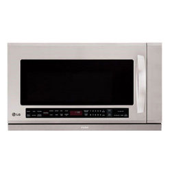 LG - LG Stainless Steel Over-the-Range Microwave Oven (Refurbished) - Perfect for cooking or reheating dinner,this over-the-range LG stainless-steel microwave makes a handy addition to your kitchen. This microwave features humidity-sensing technology to prevent overcooking and a warming lamp to keep food warm.