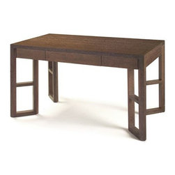 Bungalow 5 - Langham Desk , Medium Brown Cerused Oak - Will paying bills be easier while sitting at this desk? Maybe not, but at least they will look pretty!