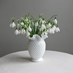 Fenton Hobnail Milk Glass Vase, Medium by Barking Sands Vintage - I love interesting pieces, and this one has a great shape.