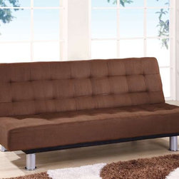 Global Furniture - SB010 Sleeper Sofa - Brown Microfiber - 23527SSP - The SB010 Sleeper Sofa by Global Furniture is a multi-purpose sofa. It sits upright like a normal sofa and lays flat for a bed.