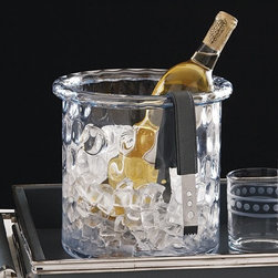 Global Views - Global Views 6.60229 Honeycomb Transitional Ice Bucket/Cooler With Rolled Edge - - Global Views 6.60229 Honeycomb Transitional Ice Bucket/Cooler With Rolled Edge - Large