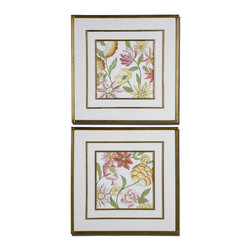 www.essentialsinside.com: garden bouquet floral art, set of 2 - Garden Bouquet Floral Art, Set of 2 by Uttermost, available at www.essentialsinside.com