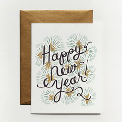 Happy New Year Card - Missed the deadline for getting your holiday cards out? Opt for New Year's greetings instead. Not only does it give you an extra week or two to write them all, it's nondenominational, so the tiding works for everyone on your list.