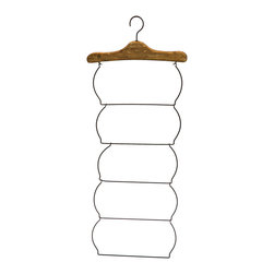 Evergreen - Towel Hanging Rack - Simple hang-anywhere design allows for timeless style and practical functionality.   18.1'' W x 46.5'' H x 1.2'' D Iron / wood Imported