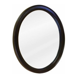 Jeffrey Alexander - Jeffrey Alexander Demi-Lune Espresso Mirror 22 Inch x 1-1/4 Inch x 2 - 22 Inch x 27 1/2 Inch Espresso oval mirror with beveled glass Finished in Espresso (finish applied by hand)  Coordinating Vanities: VAN056 VAN056 T