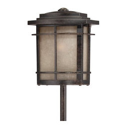 Quoizel - Quoizel GLN2006 Galen 18W Low Voltage Path Light - A design made for classic Arts & Crafts style homes, but coordinates well with contemporary landscapes as well.Included Components: