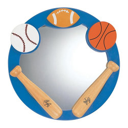 "Lite Source - ""Lite Source, Inc. Allsport Round Mirror, Multicolor"" - ""Lite Source, Inc. ALLSPORT ROUND MIRROR MIRROR Allsport round mirror mirror with wood body and light. Imported.Product Measures: 2 x 21 x 21Dimensions: 21.5″ x 2.5″ x 21.5″.   Weight: 10.54lbs."""